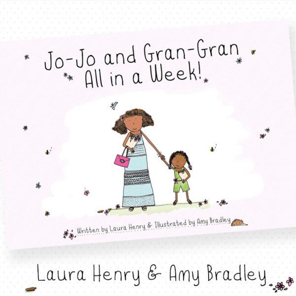 Bookish character jo jo and gran gran holding hands